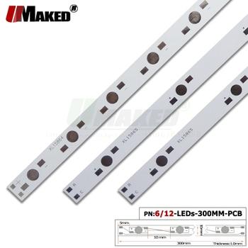 Светодиодная печатная плата, 300 мм, 6/12 Вт, алюминиевая пластина, 1/3/5 Вт, высокая мощность, светодиодная установленная световая доска, теплоот...