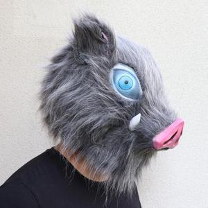 Image 5 - Inosuke masque Hashibira, casque de démon Slayer, Kimetsu no Yaiba Cosplay Hood Hair Pig, couvre chef
