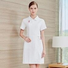 Высокая-конец медсестер носить летом с коротким рукавом салон красоты комбинезоны Женские медсестер с длинным рукавом стоматологической медсестры поликлиники носить