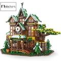 Mailackers City Gebäude Creator Die Zeit Zimmer Stadt Street View Wald Villa Land Haus Bricks Set Gebäude Blcoks Spielzeug Geschenk