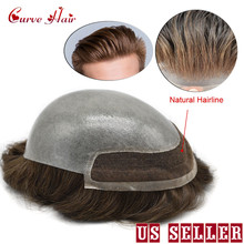 Men Toupee Wig Skin-Hair Lace-Front Indian Pieces Prosthesise 8x10-Clear Poly