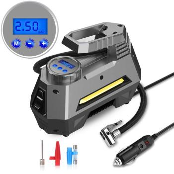 Portable 150 Psi Car Air Compressor Tire Inflator With Digital Pressure Gauge Emergency Flashlight Tire Pump 300 psi car tire inflator auto air compressor portable digital tire pump with pressure gauge for car bicycle ball rubber dinghy