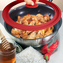 Frying-Pan Pan-Covers Pan-Lid Wok Pan Glass Round Silicone with for 28-30-32cm
