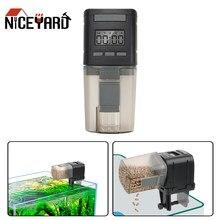 Niceyard alimentador de peixes automático inteligente aquário tanque temporizador digital comida de peixe dispensadores suprimentos de aquário