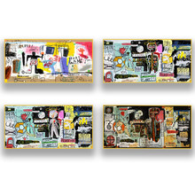 World Graffiti Master Basquiat Works Abstract Graffiti Poster Canvas Painting Modern Home Art Mural Living Room Wall Decor