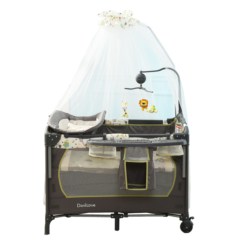 Folding Multi-function Portable Crib Bed Bb Baby Is Ou Shi Not Joining Together Big Bed