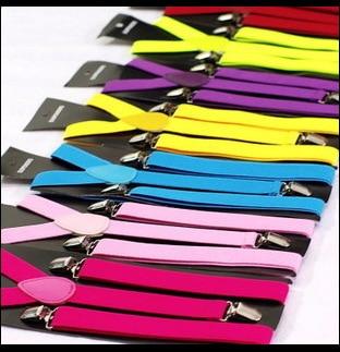 Straps Suspender Clip Solid Black Adult For Both Men And Women 3 Plastic Weaving Unisex