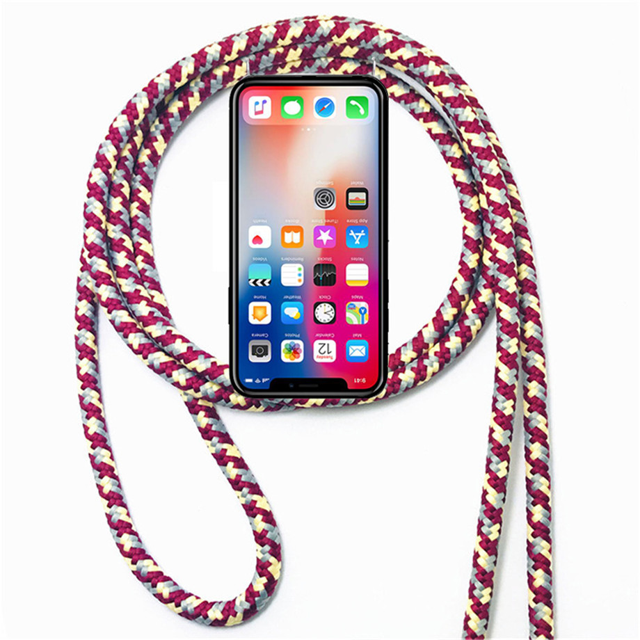 TPU Case for Xiaomi Mi Mix Max 2 2S 3 Pro Global Black Shark Pocophone F1 Necklace Shoulder Neck Strap Rope Cord Cover(China)