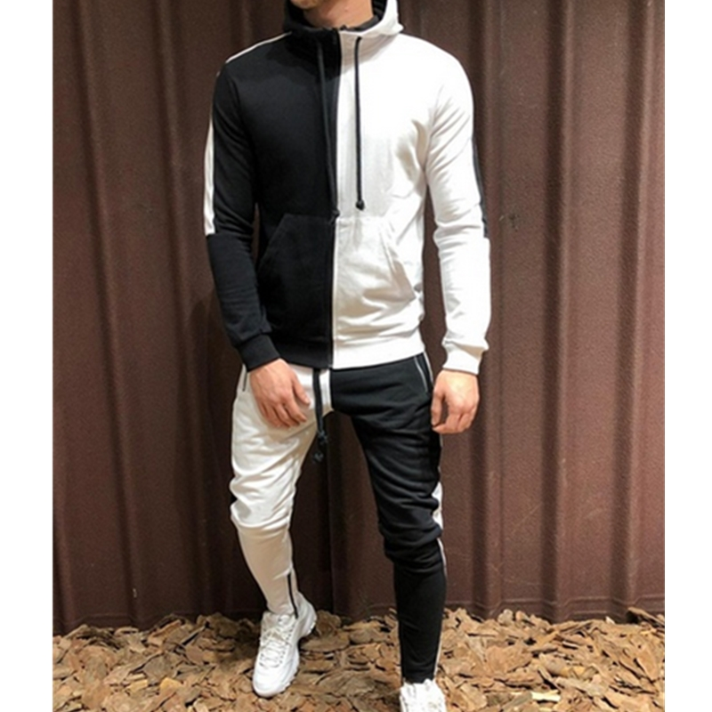 HIRIGIN Autumn Casual  Men's Tracksuits Sets Zipper Hoodies Slim Fit Tops Pants Man Pullover Sweatshirt Long Pants