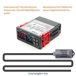 Image 3 - 12V 24V 220V 10A STC 3028 numérique température humidité mètre Thermostat double affichage thermomètre hygromètre réglable 0 ~ 100% RH
