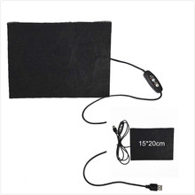 5V Carbon Fiber Heating Pad Hand Warmer USB Heating Film Electric Winter Infrared Fever