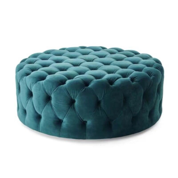 Skin-friendly fabric Nordic household sofa stool breathable stain-resistant clothing store shoes-changing pouf