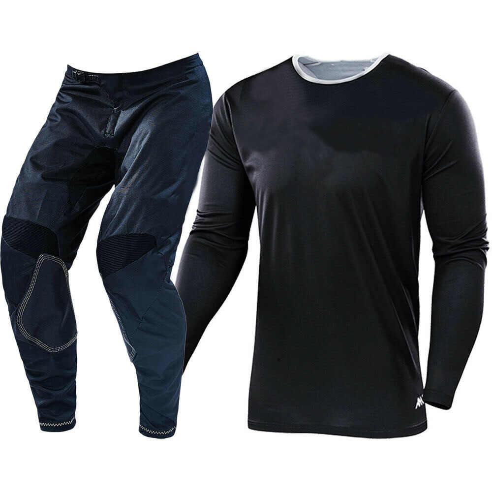 Conjunto De Ropa Para Motocross Kit De Camiseta Y Pantalones Para Motocicleta Color Negro Envio Gratis Combinaciones Aliexpress