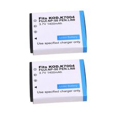 2x Fully Decoded Battery for Fuji NP-50 NP-50A Fuji F300EXR F600EXR F75EXR F70EXR dste replacement 3 7v 1400mah battery charging dock set for en el10 fuji np 45 klic 7006