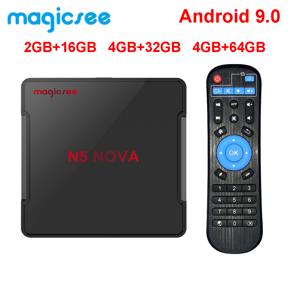 Magicsee N5 NOVA 4GB 64GB RK3318 Quad-Core Android 9.0 Tv Box 2.4G 5G Wifi BT4.0 Smart Set Top Box 4K H.264 N5 MAX Media Player(China)