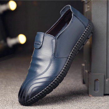 High Quality Men Genuine Leather Shoes Men  Oxfords Leather Shoes Fashion Casual Slip On Formal Business  loafers shoes A53-32