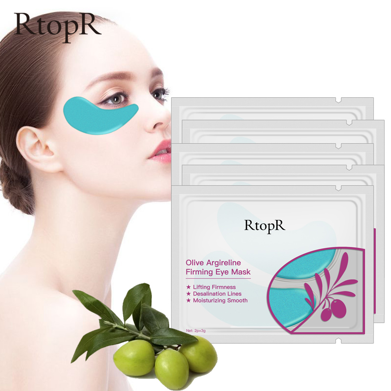 5packs Olive Collagen Eye Mask Face Skin Care Argireline Firming Anti Aging Eye Bag Dark Circles Puffiness Eye Care