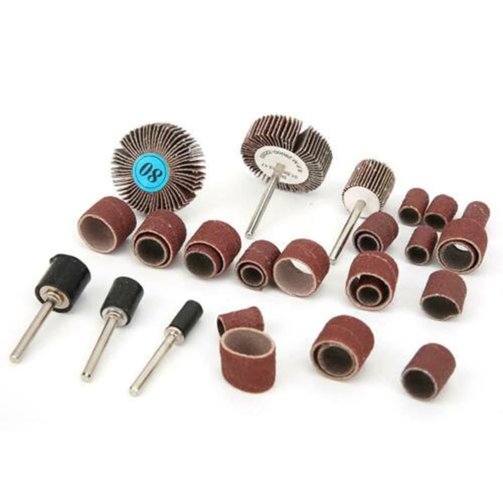 30pcs Removable Sanding Drum Kit Adaption Rod Wheel Sharpening Grinding Polishing Semi Precious Metals Rotary Tools