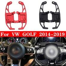 YuBao 2 шт. автомобильный рычаг переключения передач на рулевое колесо Расширенный для VW GOLF GTI R GTD GTE MK7 7 POLO GTI 2014 2015 16 17 18 2019