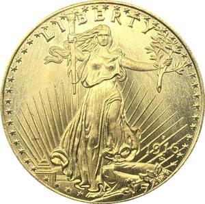 США Liberty 1916 S Twenty 20 долларов Saint Gaudens Double Eagle с девизом в Боге, мы доверяем золотым копировальным монетам