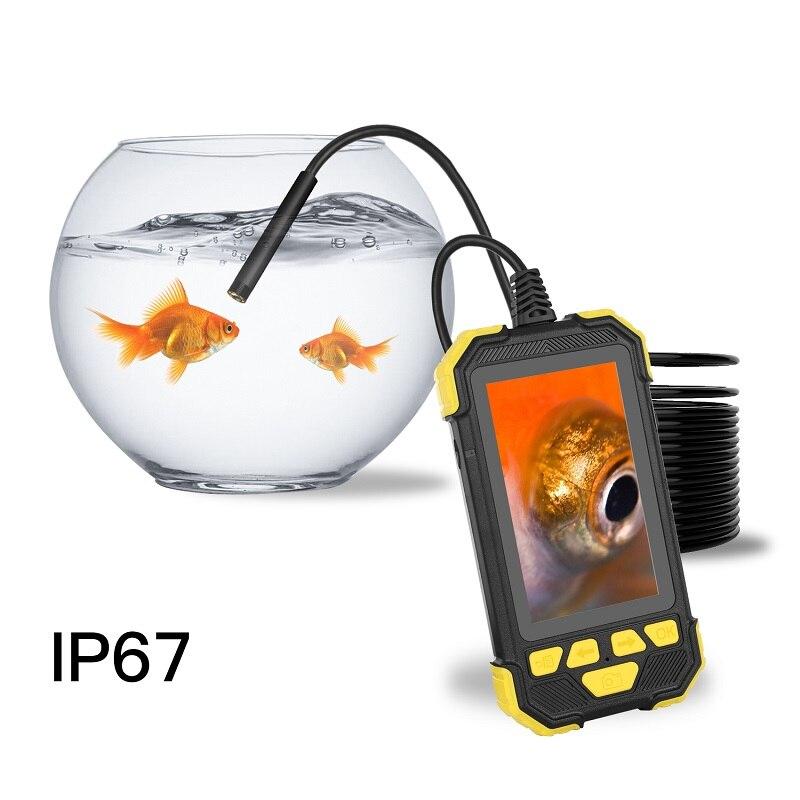 3 9mm Digital Industrial Endoscope HD 1080P 4 3 inch IPS full color screen endoscope IP67 Waterproof Semi-Rigid cable endoscope