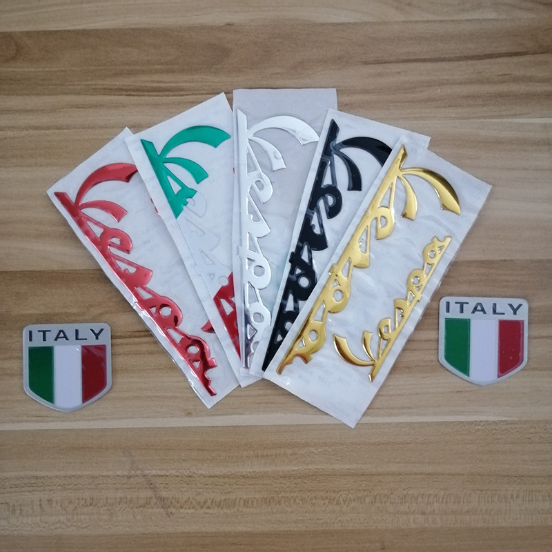 Motorcycle 3D Emblem Stickers Italy Flag Car Design Italian Decal Sticker For PIAGGIO Vespa GTS300 LX125 LX150 125 150 Ie Sprint Primavera 300 LX LXV Super Sticker
