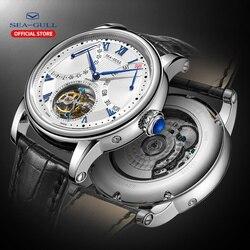 Seagull zegarek męski mechaniczny zegarek z tourbillonem aaa zegarki luksusowy mężczyzna automatyczny szafirowy zegarek marki przezroczysty zegarek ST8004zs