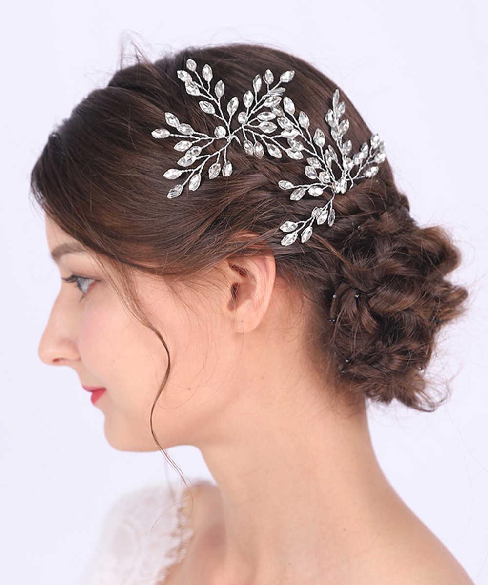 Classic Silver Rose Gold Hair Pins Shiny Crystal Wedding Bridal Hair Accessories Decorative Hair Clips For Graceful Women Bridal Headwear Aliexpress