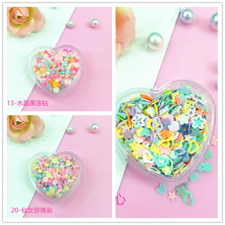Online Celebrity Style Soft Adorable Versatile Sequin Eye Makeup Stickers Snowflake Heart Star White Crystal Pearl Nail Ornament