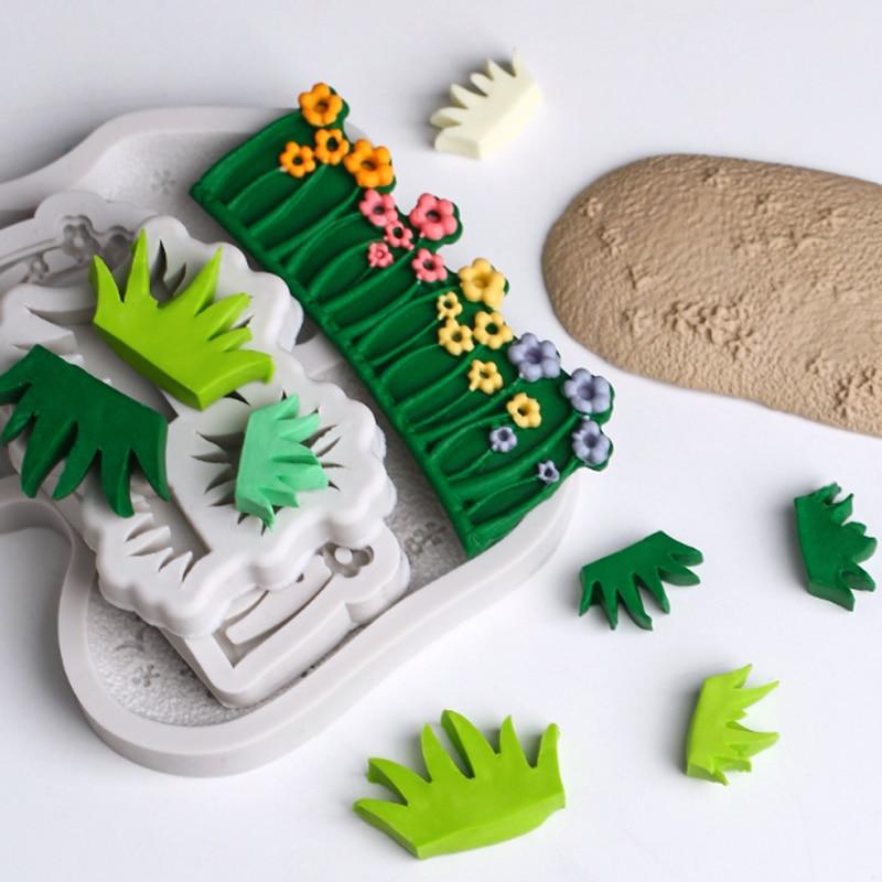 Flower Chocolate Molds Gumpaste Silicone Mold Sugarcraft Embossed Fondant Cake
