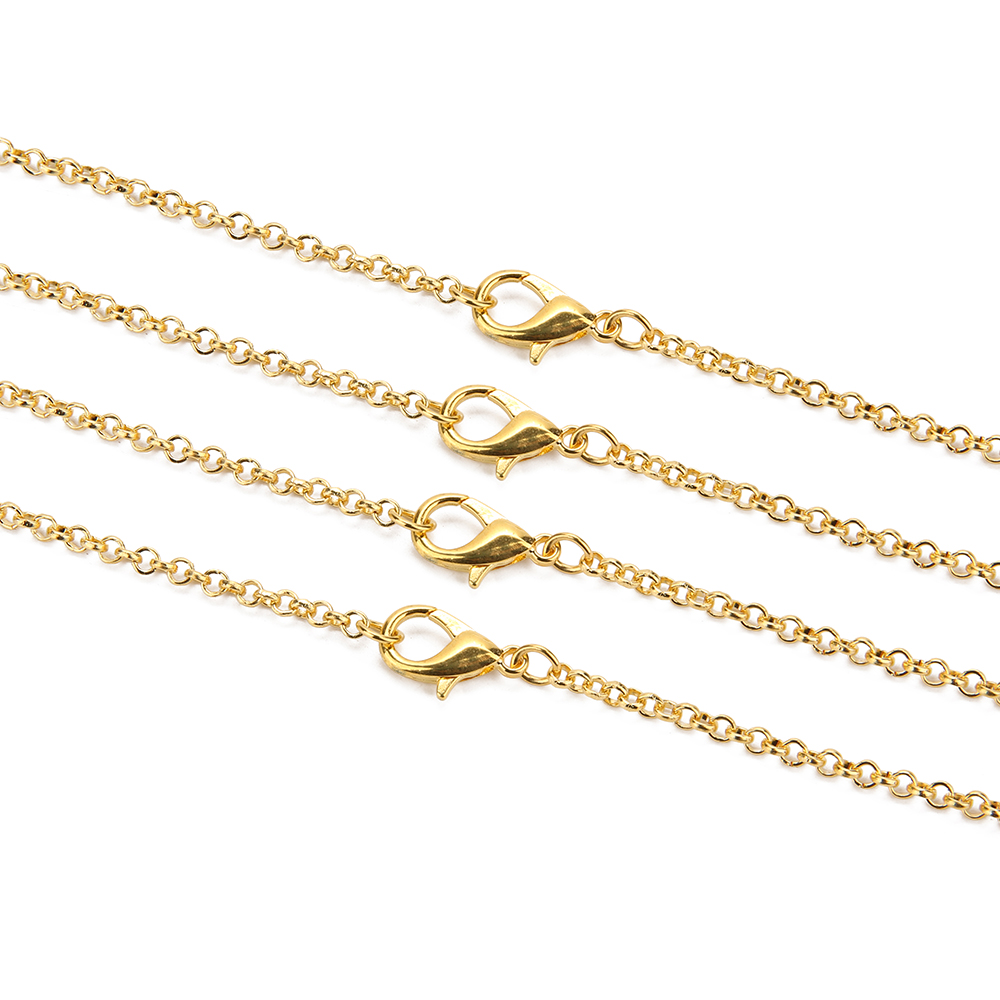 Hde6209694cd4441693c46e076efaf4ae9 - 10pcs/lot Gold  Antique Bronze Color 3mm Round Link Chain Necklace with Lobster Clasp 60cm Fit DIY Jewelry Making Findings