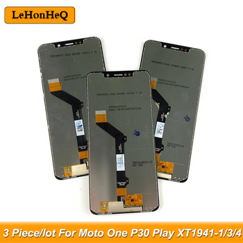 3 Piece/lot LCD For Motorola Moto One LCD P30 Play LCD XT1941-1 XT1941-3 XT1941-4 Display Touch Screen Digitizer Aseembly image