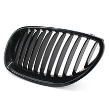 цена на New Brand Gloss Black Racing Grills Car Front Kidney Grilles For BMW E60 E61 2003-2010 M5 5-Series Car Parts Bmw