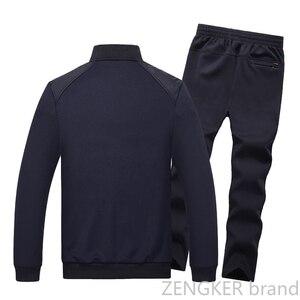 Image 2 - גברים של גודל גדול חליפה בתוספת גודל זיעה חליפת אביב ספורט גדול גודל גברים של אימונית 8XL 7XL 6XL Jogger חליפות לגברים תלבושת