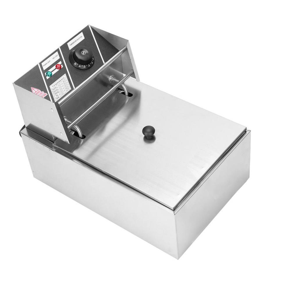 2500W Electric Deep Fryer Countertop For Home Commercial Restaurant French Fries-WWO55