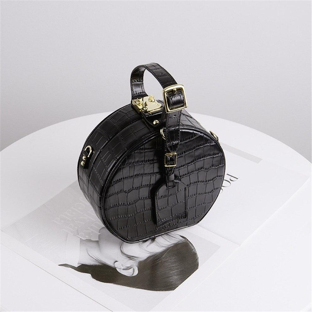 Famous Box Bag for Women Shoulder Bags Crocodile Pattern Genuine Leather Luxury designer Handbag Ladies Crossbody Bag 2019