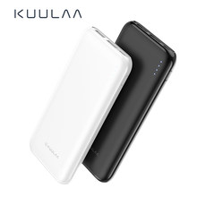 KUULAA Accumulatori e caricabatterie di riserva 10000 mAh di Ricarica Portatile Poverbank Dual USB Slim External Battery charger Per Xiao mi mi 8 9 iphone 8 X XR(China)
