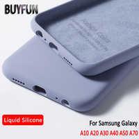 Para samsung galaxy a50 a10 a20 a30 caso de borracha silicone líquido capa macia para samsung galaxy a 10 20 30 40 50 70 caso de telefone celular