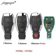 Jingyuqin chave de carro inteligente, estilo bga, 2/3/4 botões, controle remoto, 315mhz/433mhz, para mb mercedes benz e s 2 suportes original nec bga fob