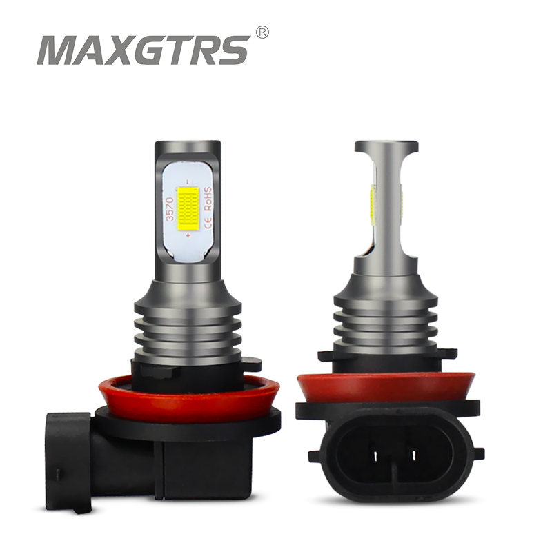 2x H1 H3 H7 H8 H11 9005 HB3 9006 HB4 H16 3570 Chip Canbus Led Bulb For Car Led Fog Driving Lights DRL Lamp White 6000K Gold