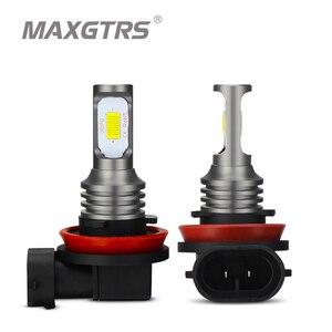 Image 1 - 2x H1 H3 H7 H8 H11 9005 HB3 9006 HB4 H16 3570 Chip Canbus Led lampe für Auto Led Nebel fahren Lichter DRL Lampe Weiß 6000K Gold