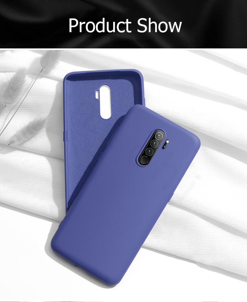 TDG Oneplus 8 OG Silicone Protective Back Case Dark Blue