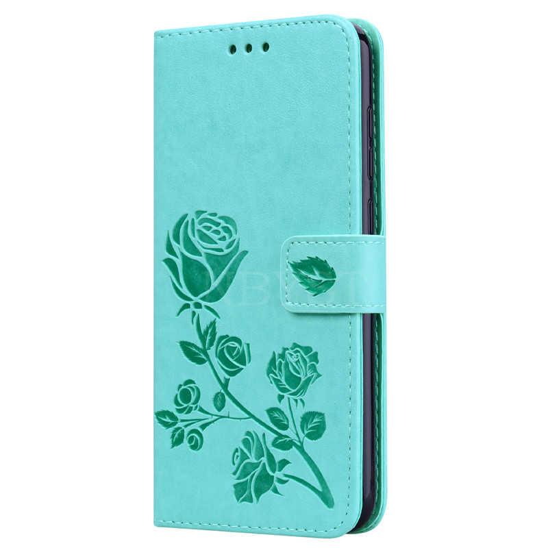 Y7 Prime 2019, Не доставая его из чехла для Huawei Y7 2019 чехол кожаный чехол с откидной крышкой 3D роза цветок чехол для телефона для Huawei Y7 2019 чехол для телефона чехол Coque