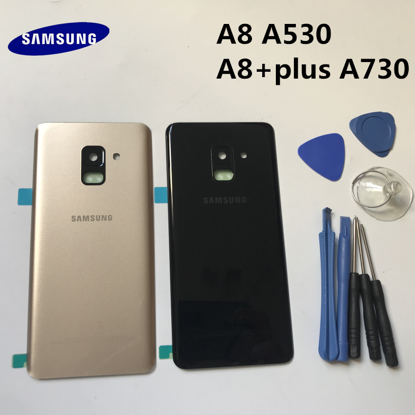 Replacement A8 A8+ Original Rear Panel Battery Glass Back Door Cover For Samsung Galaxy A8 A8+plus A530 A530F A730 A730F+tool