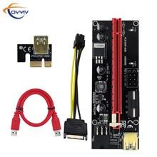 في المخزون covyiv 009s PCI E موسع الناهض بطاقة PCI E/PCIe USB 3.0 إلى 6pin كابل محول التعدين الناهض بطاقة