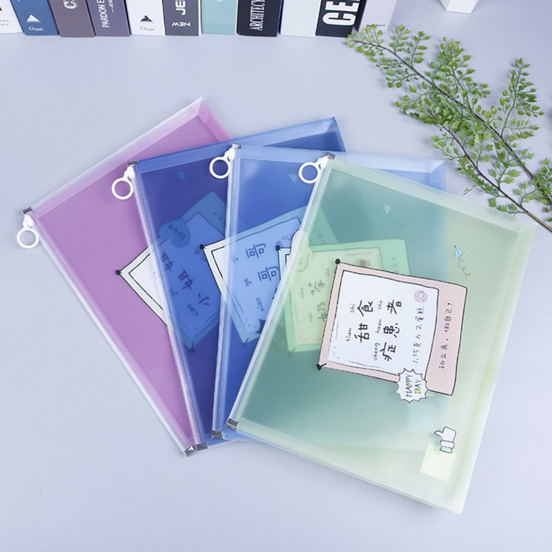 1 Pcs A4/A5 Hot Sale World Transparent File Folder Document Filing Bag Stationery Bag For Student Kids Pencil Case Box