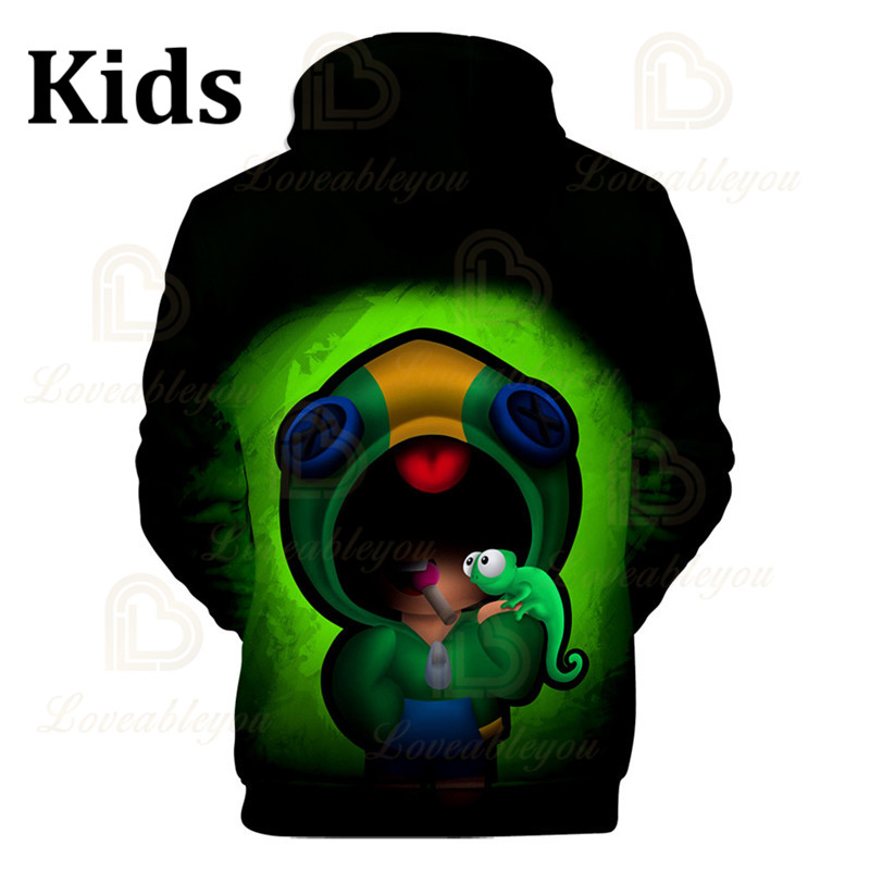 Gameing Cartoon Tops Teen Clothes POCO Shelly 8 To 19 Years Kids Sweatshirt Shooter Game Leon 3D Printed Hoodie Boys Girls  - buy with discount