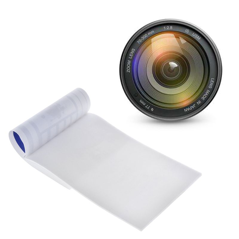 10PCS Lens Tissue Cleaning Paper Cloth Wipe Clean Tool Booklet Accessories for Canon Nikon Camera Len Filter Glasses in Camera Cleaning from Consumer Electronics
