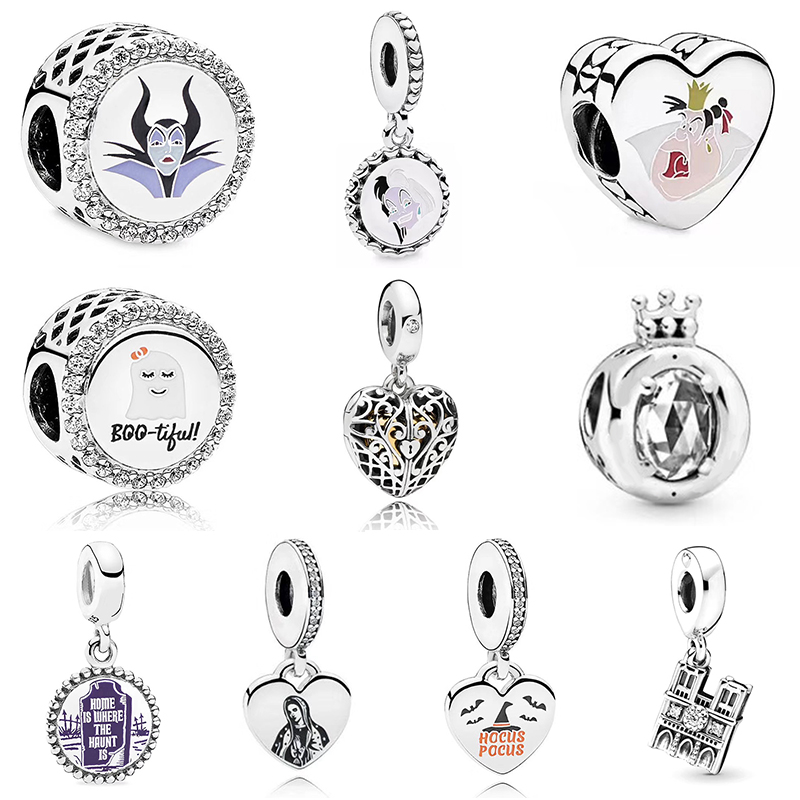 2019 NEW Autumn Series 100% 925 Sterling Silver Witch Pendant Love Charm Fit Women DIY Bracelet Original Jewelry Set Gift