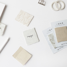 36pcs Wrinkle Paper Sticky Note Post Notes Diary Stickers Planner Stationery Office Accessories School Office Supplies H6835